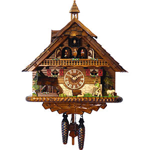 Chalet Cuckoo Clocks Cuckoo Clock Quartz-movement Chalet-Style 43cm by Engstler