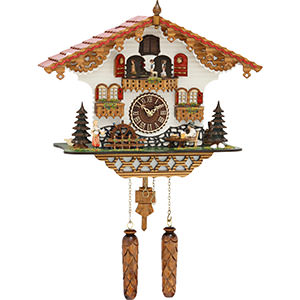 Chalet Cuckoo Clocks Cuckoo Clock Quartz-movement Chalet-Style 43cm by Trenkle Uhren