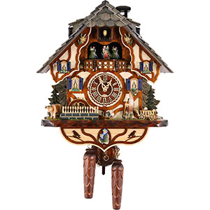Chalet Cuckoo Clocks Cuckoo Clock Quartz-movement Chalet-Style 45cm by Trenkle Uhren
