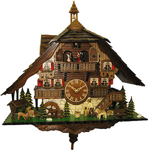 Chalet Cuckoo Clocks Cuckoo Clock Quartz-movement Chalet-Style 50cm by Engstler