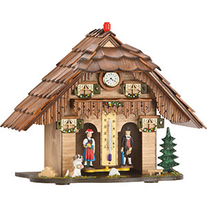 Black Forest Souvenir Clocks & Weather Houses Cuckoo Clock Weather house-movement Chalet-Style 20cm by Trenkle Uhren