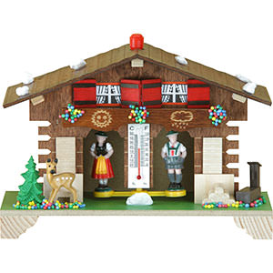 Black Forest Souvenir Clocks & Weather Houses Weather house 12cm by Trenkle Uhren