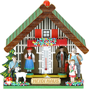 Black Forest Souvenir Clocks & Weather Houses Weather house 13cm by Trenkle Uhren