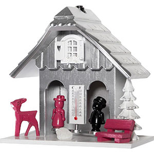 Black Forest Souvenir Clocks & Weather Houses Weather house 15cm by Engstler