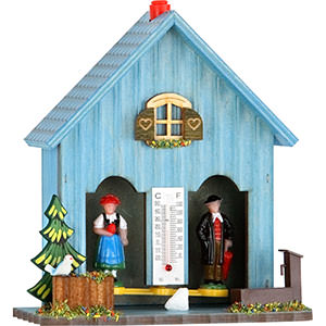 Black Forest Souvenir Clocks & Weather Houses Weather house 15cm by Trenkle Uhren