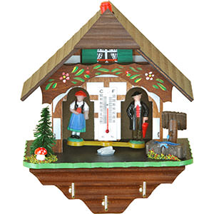 Black Forest Souvenir Clocks & Weather Houses Weather house 16cm by Trenkle Uhren