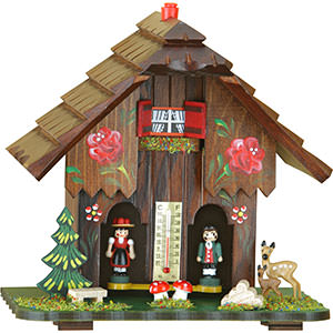 Black Forest Souvenir Clocks & Weather Houses Weather house 17cm by Trenkle Uhren
