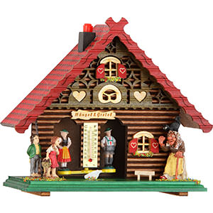 Black Forest Souvenir Clocks & Weather Houses Weather house 18cm by Trenkle Uhren