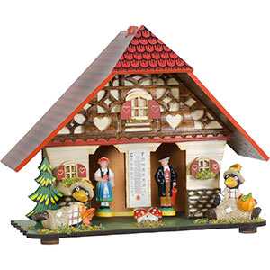 Black Forest Souvenir Clocks & Weather Houses Weather house 20cm by Trenkle Uhren