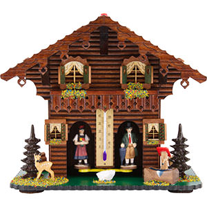 Black Forest Souvenir Clocks & Weather Houses Weather house 21cm by Trenkle Uhren