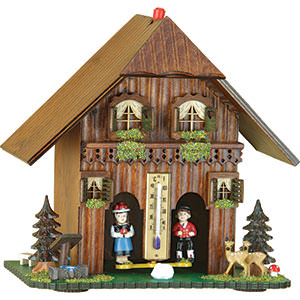 Black Forest Souvenir Clocks & Weather Houses Weather house 23cm by Trenkle Uhren