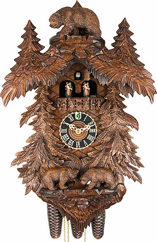 Cuckoo Clock 8 Day Movement Carved Style 58cm By H 246 Nes