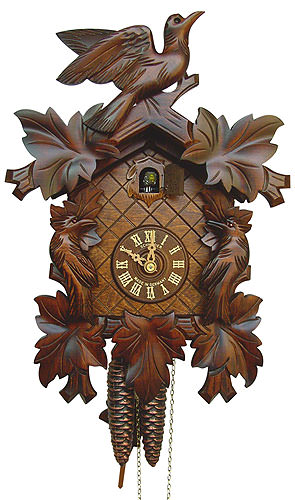Cuckoo Clock 8-day-movement Carved-Style 34cm by Anton ...