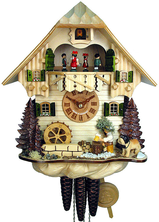 Cuckoo clock 1 day movement chalet style 32cm by august How to make a cuckoo clock
