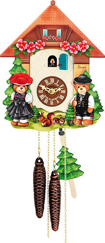 cuckoo clock 1 day movement chalet style 26cm by hubert herr 4455. Black Bedroom Furniture Sets. Home Design Ideas