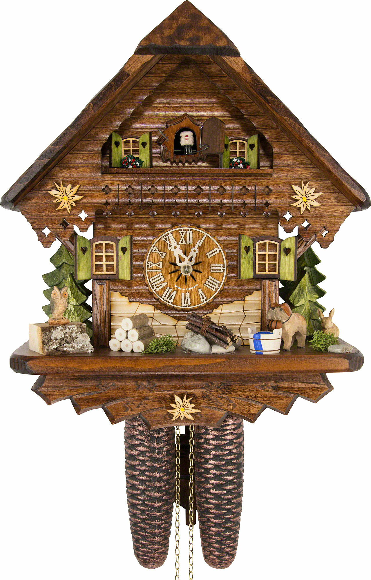 cuckoo clock instructions with Cuckoo Clock 8 Day Movement Chalet Style 34cm By Cuckoo Palace  1033 on 1526 furthermore Black White Alarm Clock likewise Stock Photo Triberg Im Schwarzwald Watch Shop On The Main Road With The Worlds 126191117 furthermore Cuckoo Clock 8 Day Movement Chalet Style 34cm By Cuckoo Palace  1033 further Cuckoo Clock Quartz Movement Chalet Style 24cm By Trenkle Uhren  896.