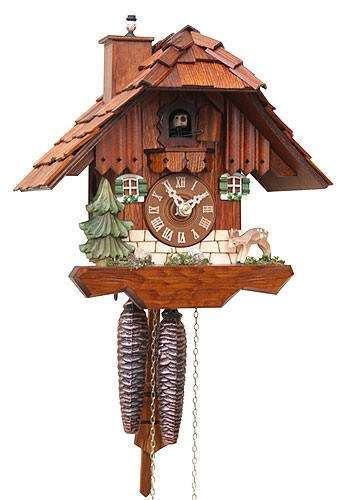 Cuckoo Clock 1-day-movement Chalet-Style 23cm by Rombach ...