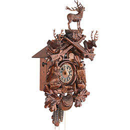 Cuckoo Clock 1-day-movement Carved-Style 40cm by Hönes