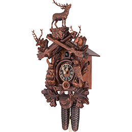 Cuckoo Clock 8-day-movement Carved-Style 50cm by Hönes