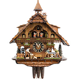 Cuckoo Clock 1-day-movement Chalet-Style 46cm by Hönes