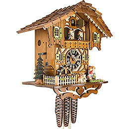 Cuckoo Clock 1-day-movement Chalet-Style 31cm by Hönes