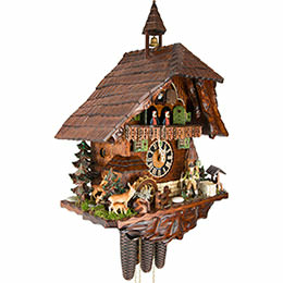 Cuckoo Clock 8-day-movement Chalet-Style 62cm by Hönes