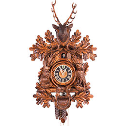 Cuckoo Clock 1-day-movement Carved-Style 46cm by Hönes