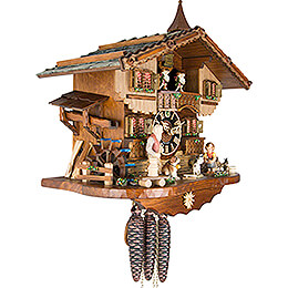 Cuckoo Clock 1-day-movement Chalet-Style 37cm by Hönes