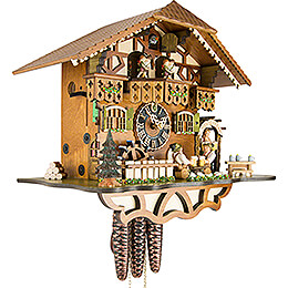 Cuckoo Clock 1-day-movement Chalet-Style 30cm by Hönes