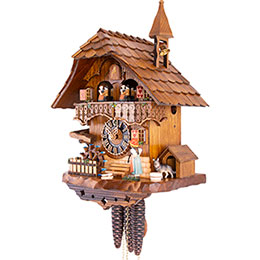 Cuckoo Clock 1-day-movement Chalet-Style 39cm by Hönes