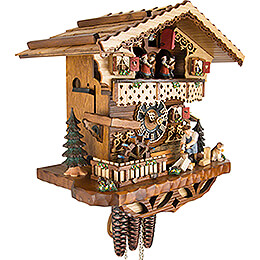 Cuckoo Clock 1-day-movement Chalet-Style 29cm by Hönes