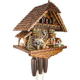 Cuckoo Clock 8-day-movement Chalet-Style 46cm by Hönes