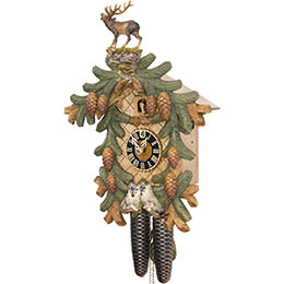 Cuckoo Clock 8-day-movement Carved-Style 53cm by Hönes