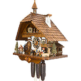 Cuckoo Clock 8-day-movement Chalet-Style 51cm by Hönes