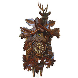 Cuckoo Clock 1-day-movement Carved-Style 48cm by Anton Schneider