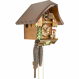 Cuckoo Clock 1-day-movement Chalet-Style 20cm by Anton Schneider