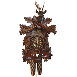 Cuckoo Clock 8-day-movement Carved-Style 40cm by Anton Schneider