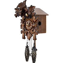 Cuckoo Clock Quartz-movement Carved-Style 23cm by Anton Schneider