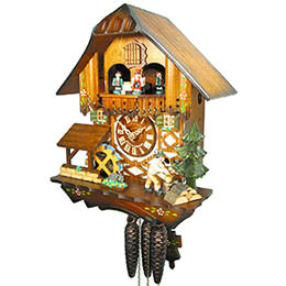 Cuckoo Clock 1-day-movement Chalet-Style 30cm by August Schwer