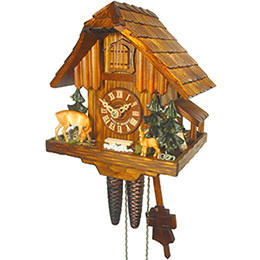Cuckoo Clock 1-day-movement Chalet-Style 21cm by August Schwer