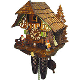 Cuckoo Clock 8-day-movement Chalet-Style 28cm by August Schwer