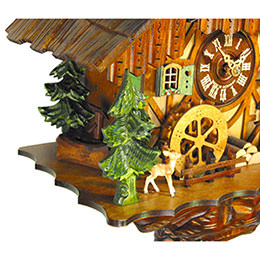 Cuckoo Clock 1-day-movement Chalet-Style 34cm by August Schwer