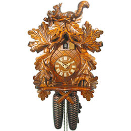 Cuckoo Clock 8-day-movement Carved-Style 37cm by August Schwer