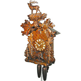 Cuckoo Clock 8-day-movement Carved-Style 53cm by August Schwer