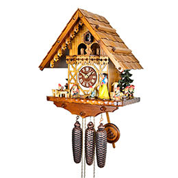 Cuckoo Clock 8-day-movement Chalet-Style 41cm by August Schwer