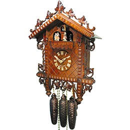 Antique replica clock 8-day-movement 36cm by August Schwer