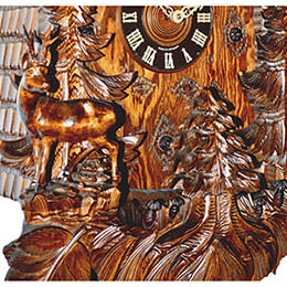 Cuckoo Clock 8-day-movement Carved-Style 95cm by August Schwer
