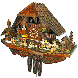 Cuckoo Clock 8-day-movement Chalet-Style 42cm by August Schwer