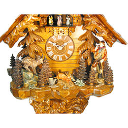 Cuckoo Clock 8-day-movement Chalet-Style 71cm by August Schwer