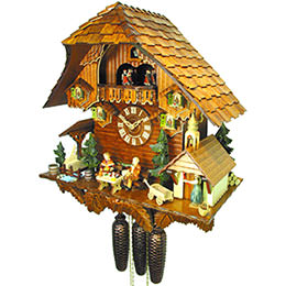 Cuckoo Clock 8-day-movement Chalet-Style 44cm by August Schwer